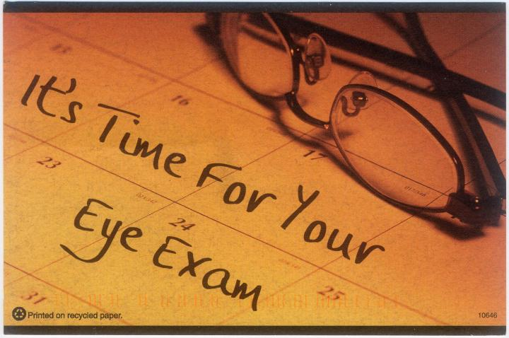 Is It Time for An EyeExam?