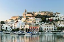 Ibiza in the morning. Balearic Islands. Spain