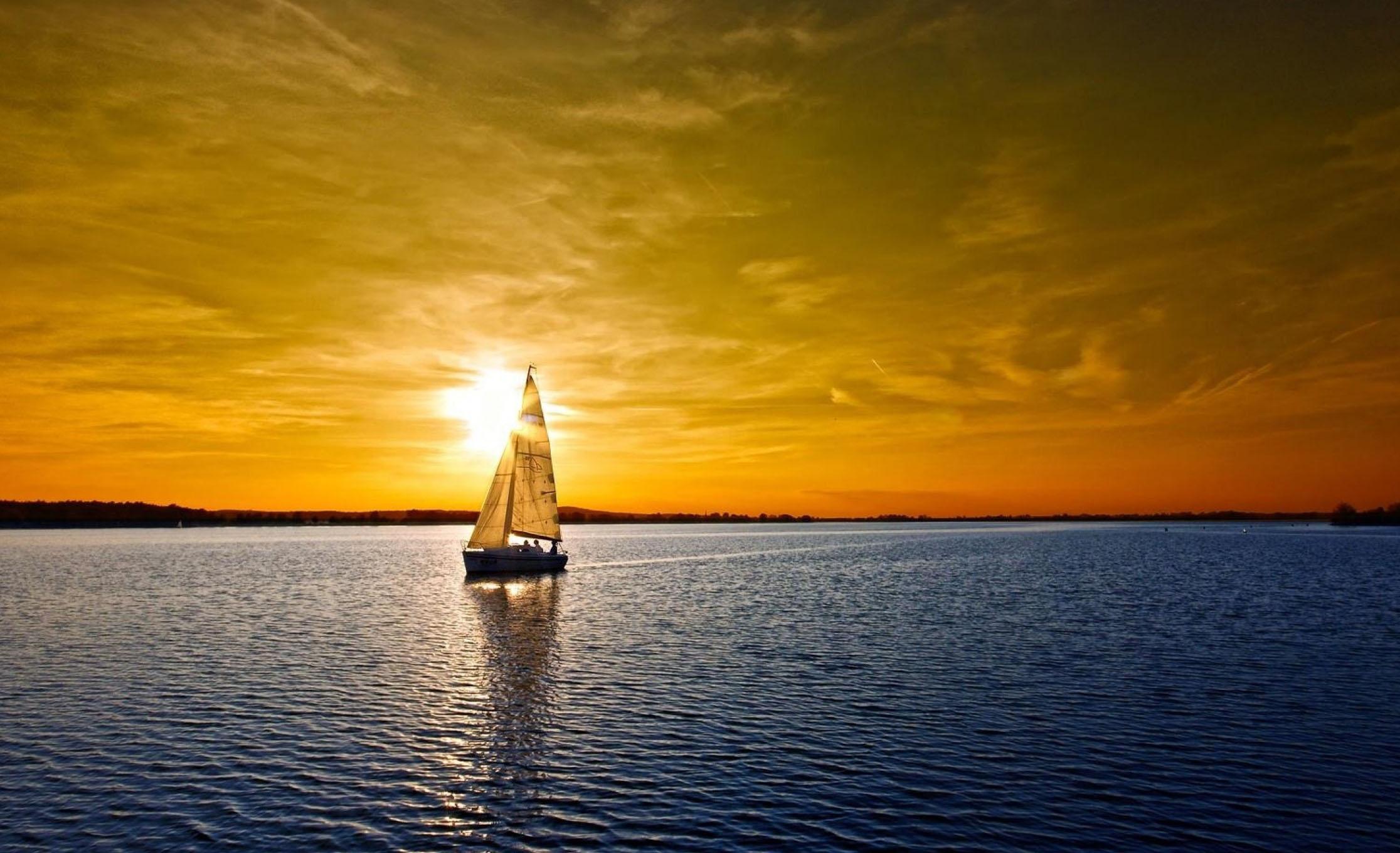 sailboat-art-beautiful-ocean-sunset