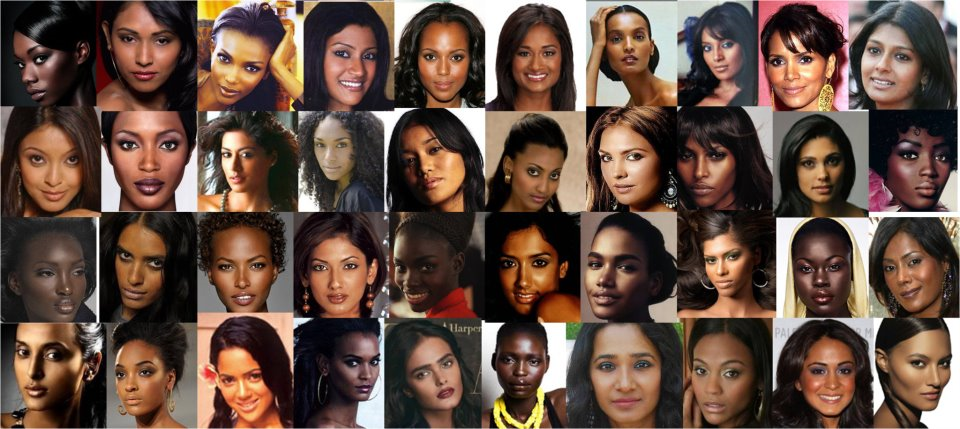 women in different shades